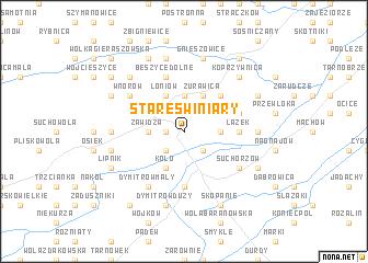 map of Stare Świniary