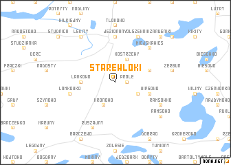 map of Stare Włóki