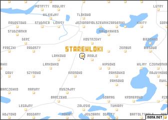 map of Stare Włóki