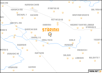map of Starinki