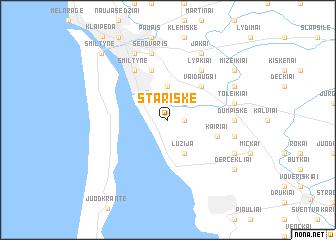 map of Stariškė