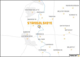 map of Starogol\