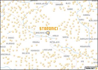 map of Staronići