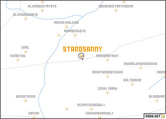 map of Starosanny