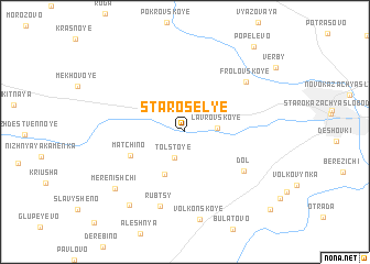map of Starosel\