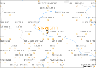 map of Starostín