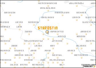 map of Starostín