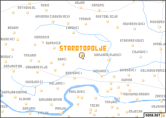 map of Staro Topolje