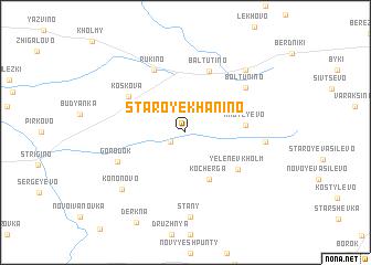 map of Staroye Khanino