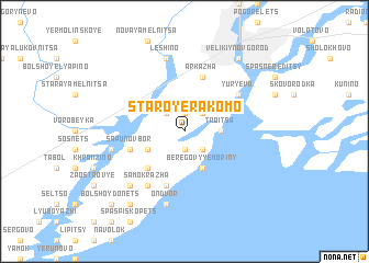 map of Staroye Rakomo