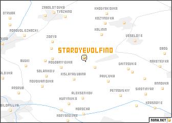 map of Staroye Volfino