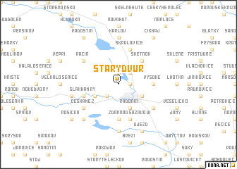 map of Starý Dvŭr