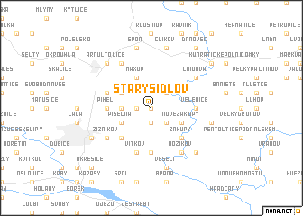 map of Starý Šidlov
