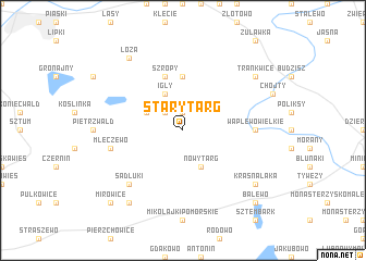 map of Stary Targ