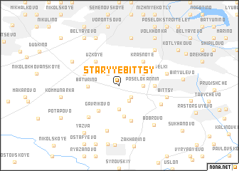 map of Staryye Bittsy
