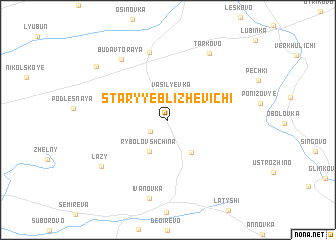 map of Staryye Blizhevichi