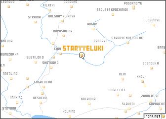 map of Staryye Luki