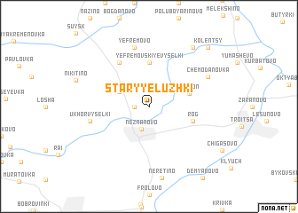 map of Staryye Luzhki
