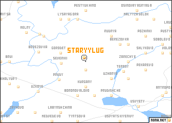 map of Staryy Lug