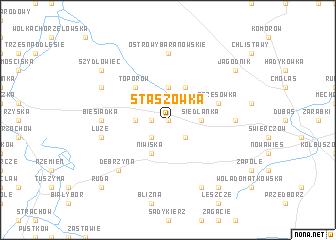 map of Staszówka