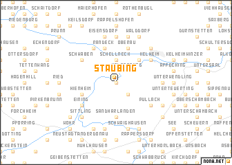 map of Staubing