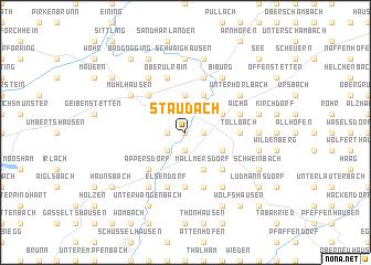 map of Staudach