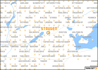 map of Stauden