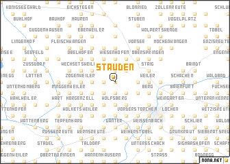 map of Stauden