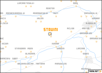 map of Stăuîni