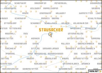 map of Stausacker