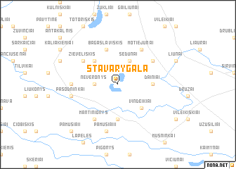 map of Stavarygala