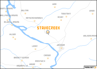 map of Stave Creek