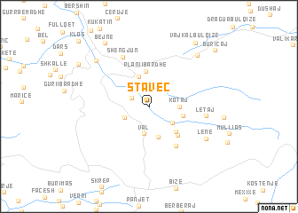 map of Staveç