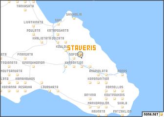 map of Stáveris