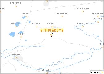 map of Staviskoye