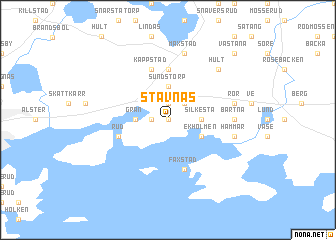Stavnäs Sweden Map Nonanet - Sweden map varmland