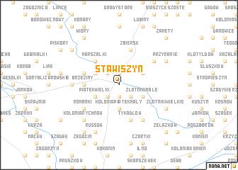 map of Stawiszyn