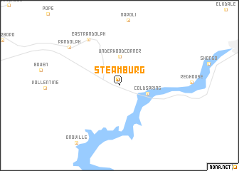 map of Steamburg