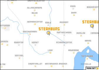 map of Steamburg