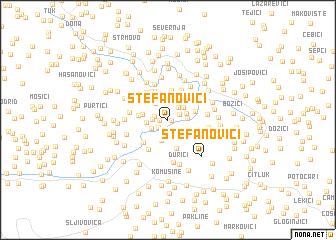 map of Stefanovići
