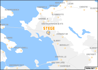 map of Stege