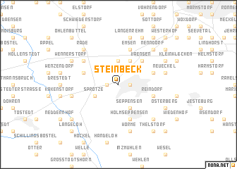 map of Steinbeck