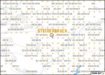 map of Steinenbrück