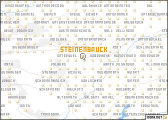 map of Steinenbrück