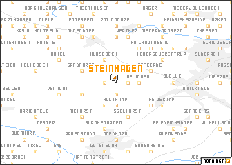 map of Steinhagen