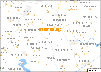 map of Steinsburg