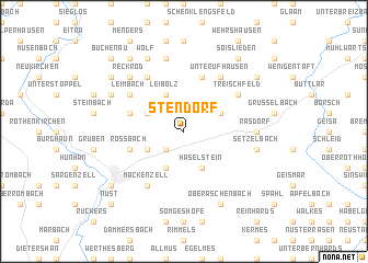 map of Stendorf