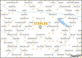 map of Stęplew