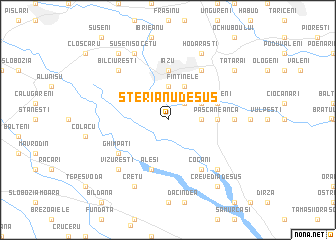 map of Sterianu de Sus