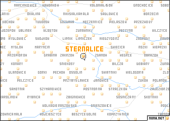 map of Sternalice